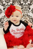 I'm Daddy's Valentine Raglan, Valentine's day shirt, toddler girl, baby girl, first valentines day, glitter, daddy's girl