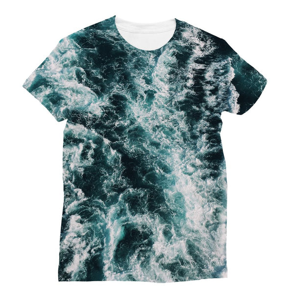 Ocean Waves  Sublimation T-Shirt - LuluBee+Kewi