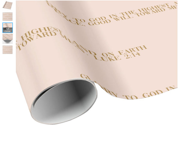 A Scripture Wrapping Paper Luke 2:14