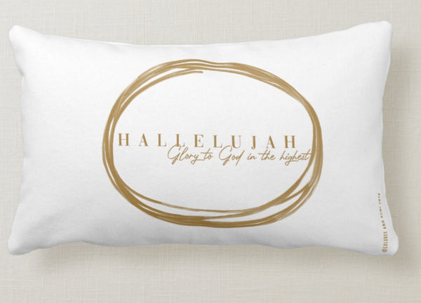 A Scripture Collection Hallelujah glory to God Throw Pillow