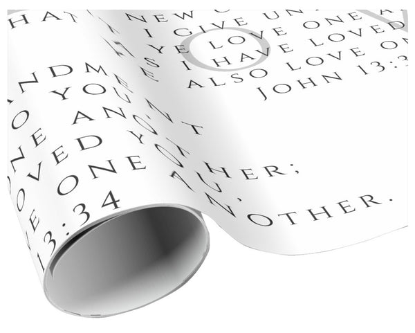A Scripture John 13:34 gift wrapping paper – LuluBee+Kewi