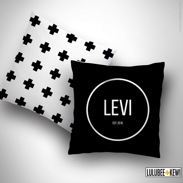 Custom Baby Name Pillow - LuluBee+Kewi