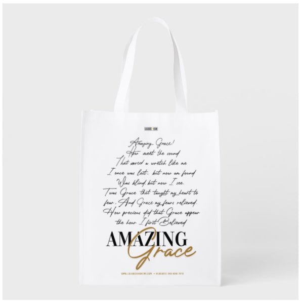 A Scripture Collection Amazing Grace reusable grocery gift bag