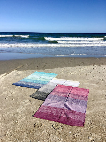 Get Faded, Ombre Handcrafted Yoga Mat, Throw Rug 3x5ft Black - LuluBee+Kewi