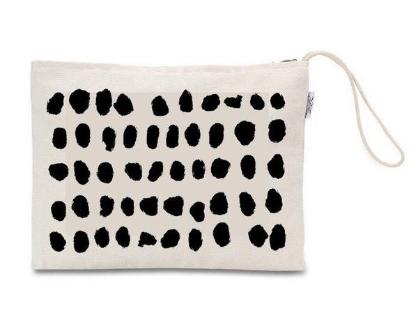 Hand Painted Canvas Clutch - LuluBee+Kewi