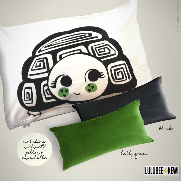 Desert Turtle Pillowcase, Hand Drawn Pillow Sham by American Artist Catherine Cortes - LuluBee+Kewi
