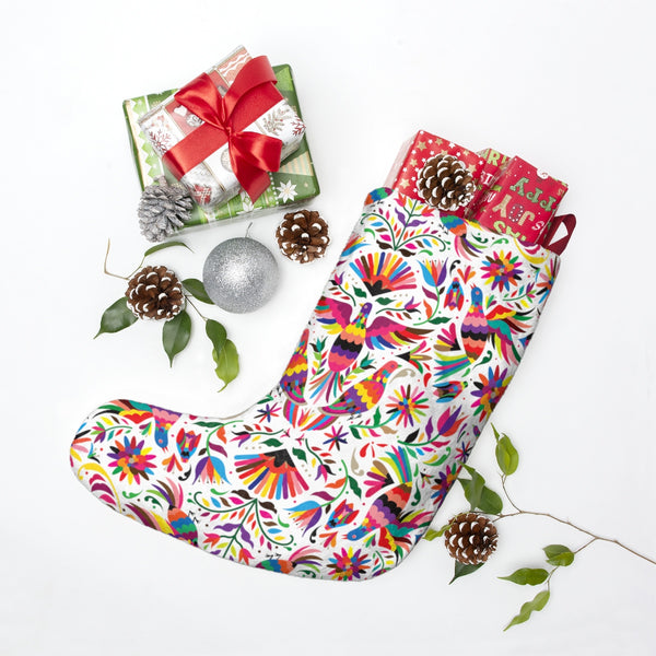 Christmas Stockings Otomi patterm