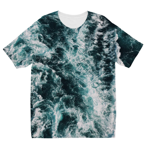 Ocean Waves  Kids' Sublimation T-Shirt - LuluBee+Kewi