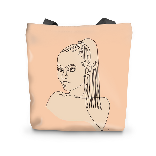 "Canvas Tote, Kewi, My Muse by Catherine Cortes Tote Bag 17""x17"" - LuluBee+Kewi"