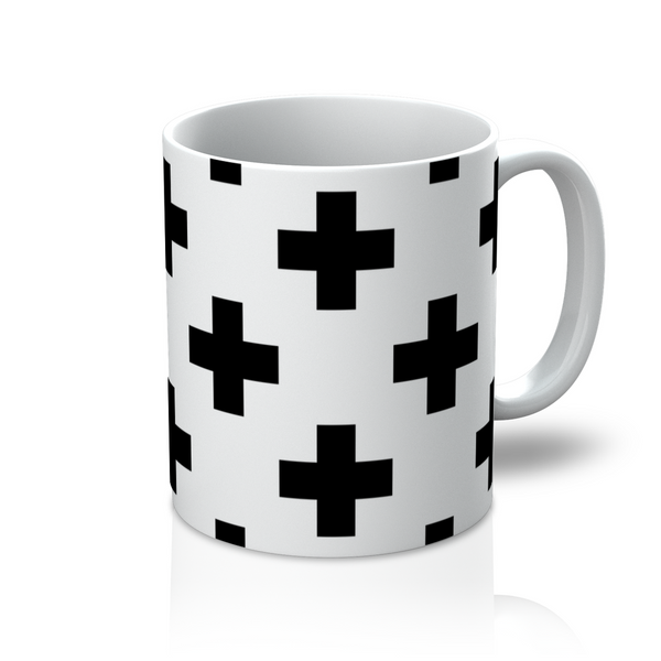 Coffee + Tea, Coffee + Tea, Cross Pattern Coffee Mug by LuluBee and Kewi - LuluBee+Kewi