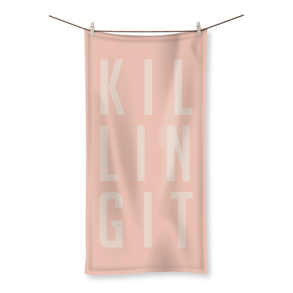 Killing It by LuluBee + Kewi Blush Beach Towel Collection - LuluBee+Kewi