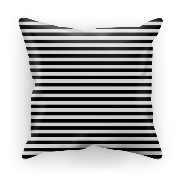 Black + White Stripes by LuluBee + Kewi Cushion - LuluBee+Kewi