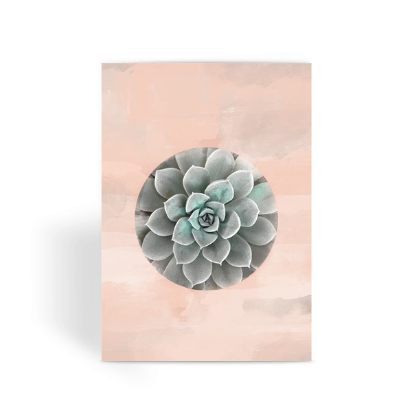 Succlent Watercolor Greeting Card - LuluBee+Kewi