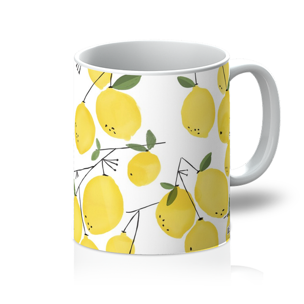 Lemon Watercolor Mug - LuluBee+Kewi