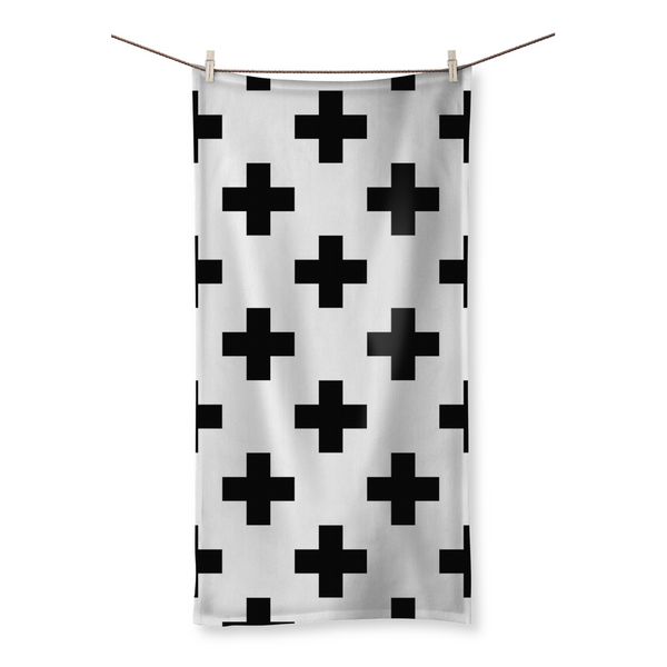Cross Pattern Cotton Towel Collection by LuluBee and Kewi Beach Towel - LuluBee+Kewi