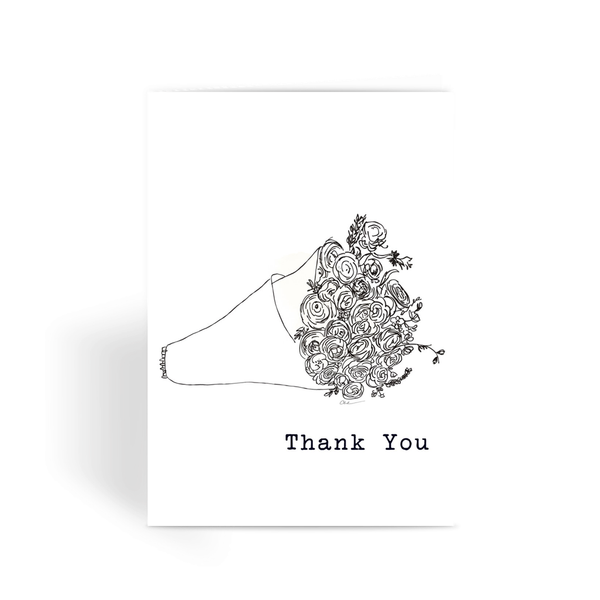 Flowers to say Thank You Illustration Greeting Card - LuluBee+Kewi