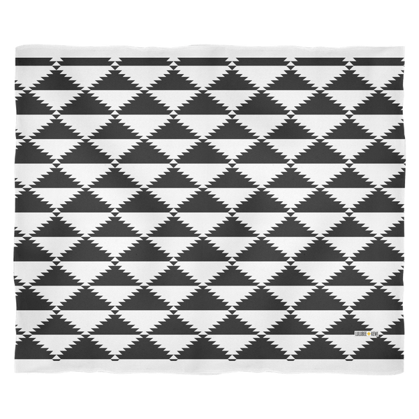 Aztec Pattern Triangle, Black + White Blanket, 3 sizes - LuluBee+Kewi