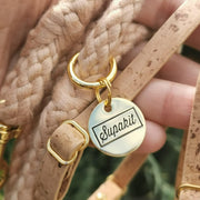 Cat harness leash natural cork