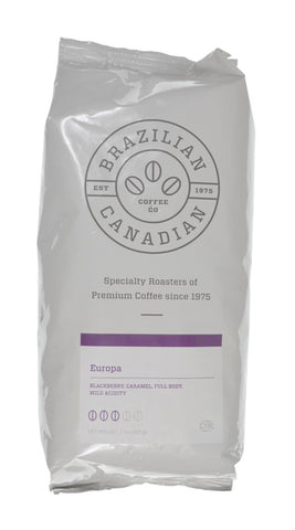 Brazilian Canadian Coffee Europa Blend Beans [2lbs]