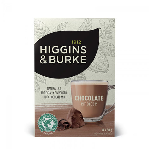 Higgins & Burke Premium Hot Chocolate - Chocolate Embrace [8 x 30g]