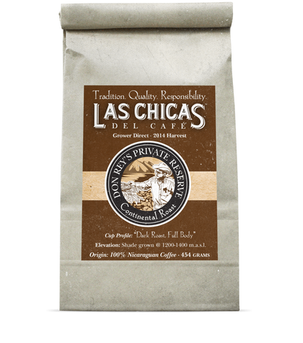 Las Chicas Don Rey's Private Reserve Continental Roast Beans [1lb]