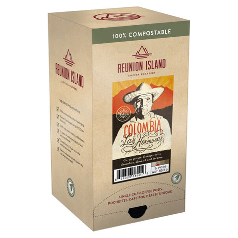 Reunion Island Compostable Pods - Colombia Las Hermosas [16 pack]