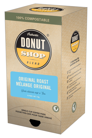 Reunion Island Compostable Pods - Donut Shop Original Roast [16 pack]