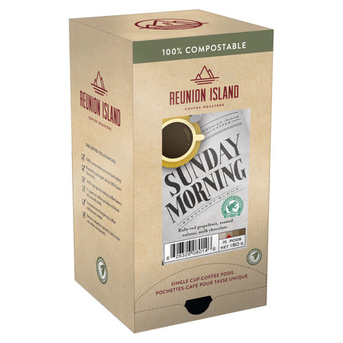Reunion Island Compostable Pods - Sunday Morning [16 pack]