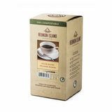 Not Keurig Compatible: Reunion Island 100% Compostable Pods - House Blend [16 pack]