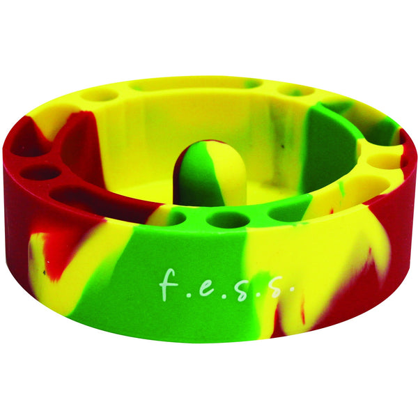 F.e.s.s. Fess Silicone Premium AshTray w/ Glass Friendly Tapping Center Unbreakable Shatter, , fessonline, FESSONLINE