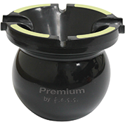 Glow in the Dark Premium Multi Function Portable Cigarette/Cigar Spill proof Ashtray -Black, , FESSONLINE, FESSONLINE