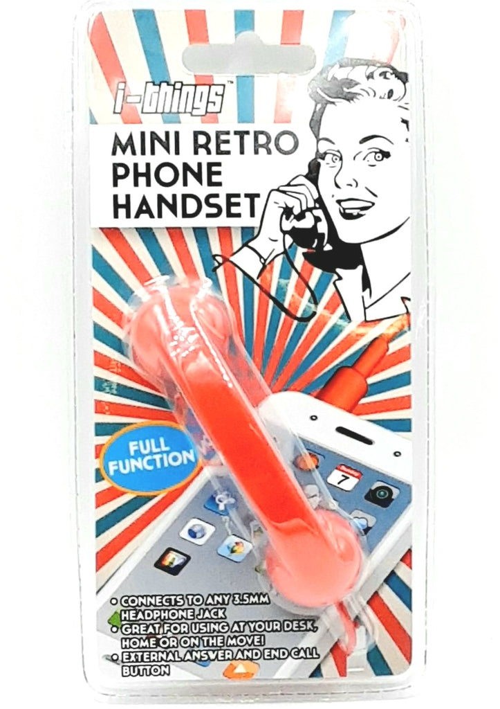Mini retro phone handset