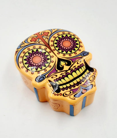 Day of the dead  sugar skull orange box 5""