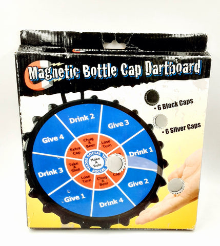Magnetic Dart Board Game Drinking Beer Cap Party Bar Bottle Cap