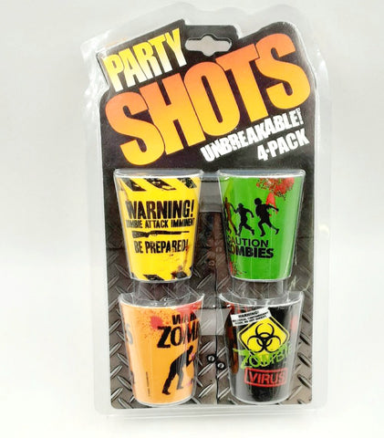 Zombie Shot Glasses -Set of 4