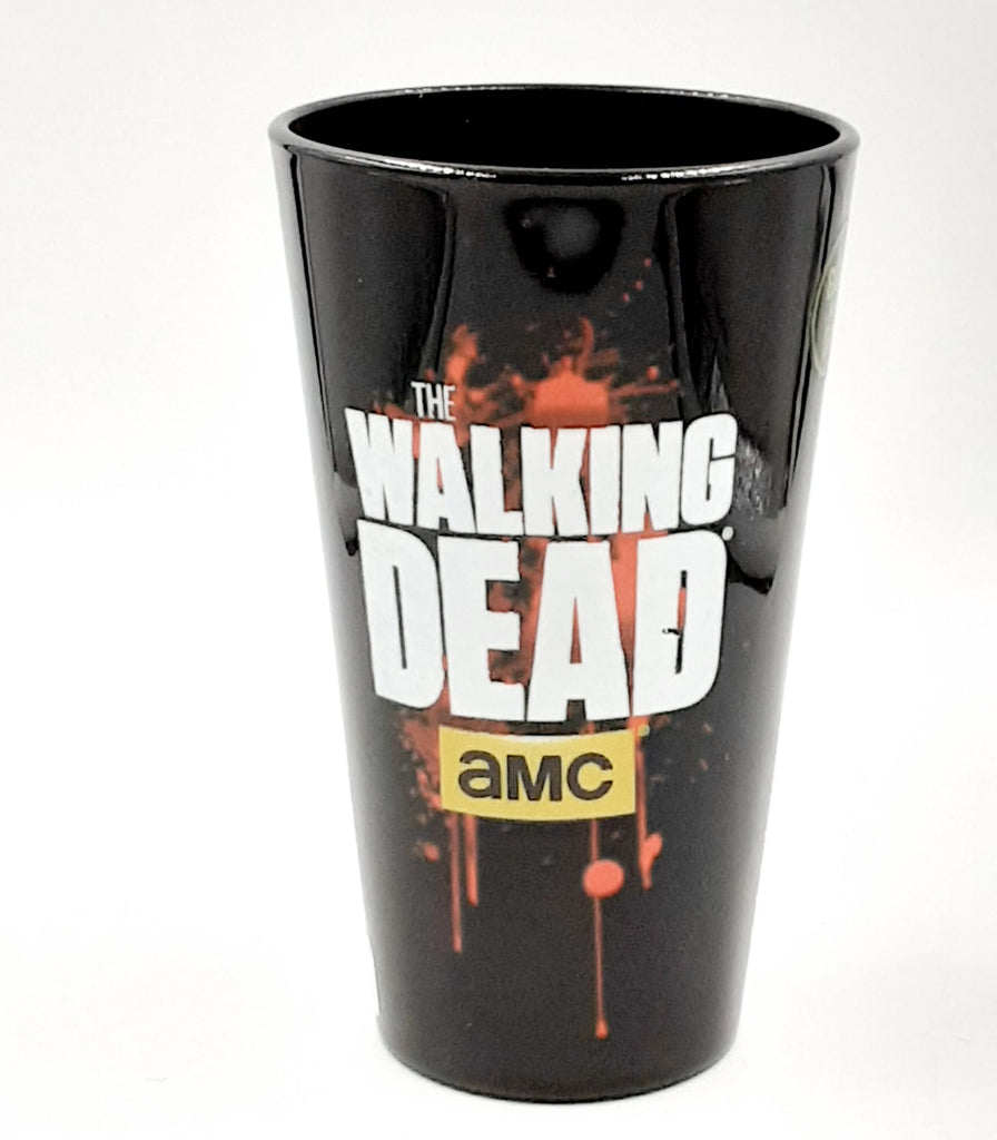 Walking dead glow in the dark logo pint glass 16oz