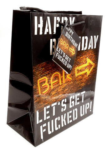 2 Pack Kalan happy birthday lets get f*cked up gift bag