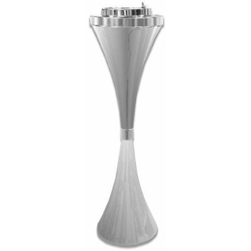 Contemporary Chrome Self Cleaning Floor Stand Ashtray, , fessonline, FESSONLINE
