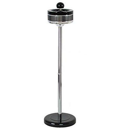 "26"" Standing Tall Metal Spin-top Durable Ashtray (Black Chrome), , fessonline, FESSONLINE"