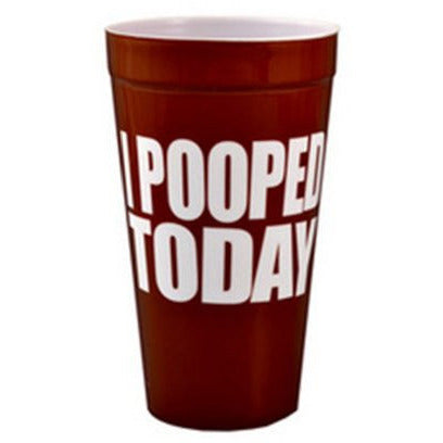 I POOPED TODAY PLASTIC CUP, , FESSONLINE, FESSONLINE