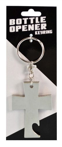 Island Dogs Cross Bottle Opener Keychain, Silver, , FESSONLINE, FESSONLINE