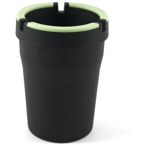 Glow in the Dark Cup-Style Self-Extinguishing Cigarette Ashtray - Black, , fessonline, FESSONLINE