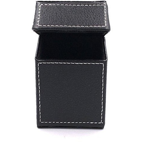 Fe.s.s. Black Stiched PU Cigarette Pack box Holder - For 85mm (Kings/Regular) Cigarettes, , fessonline, FESSONLINE