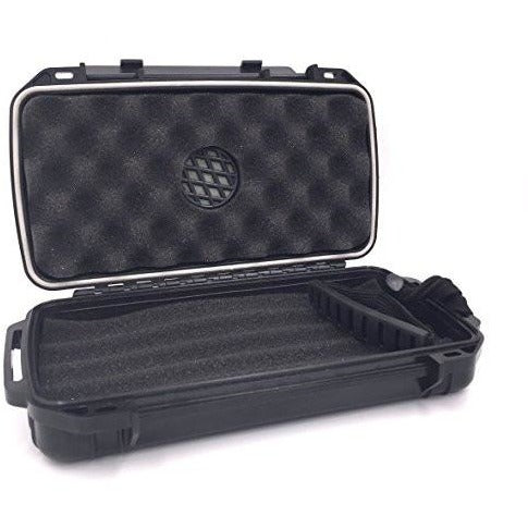 Fess F5 Black Travel Cigar Humidor Waterproof Holder Case for up to 5 Cigars, , fessonline, FESSONLINE