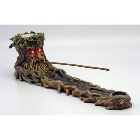 Green Man Incense Burner LED Eyes, , fessonline, FESSONLINE