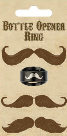 2x Island Dogs Mustache Bottle Opener Ring, , FESSONLINE, FESSONLINE