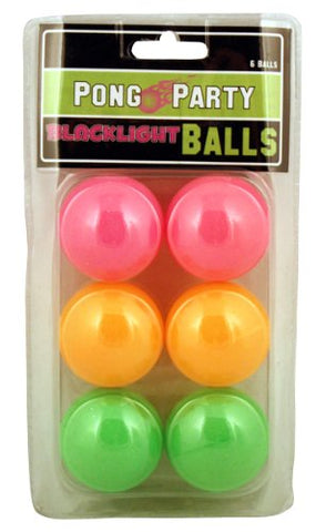 Island Dogs Black Light Pong Balls, 6-Pack, , FESSONLINE, FESSONLINE