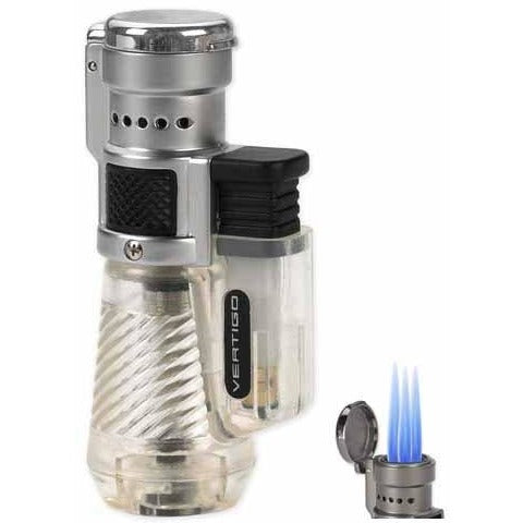 Vertigo by Lotus Cyclone Triple Torch Cigar Lighter Clear, , fessonline, FESSONLINE