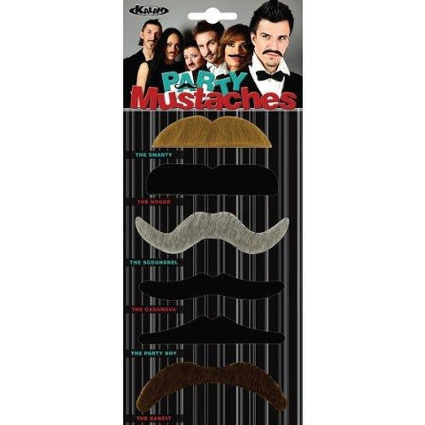 4PK Kalan LP Party Mustaches, , fessonline, FESSONLINE