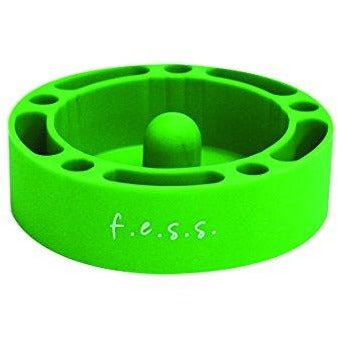 F.e.s.s. Fess Silicone Premium AshTray w/ Glass Friendly Tapping Center (Green), , fessonline, FESSONLINE